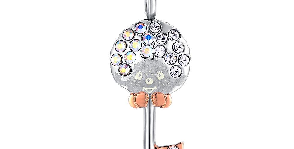 鎖愛鑰匙項鏈(銀色)