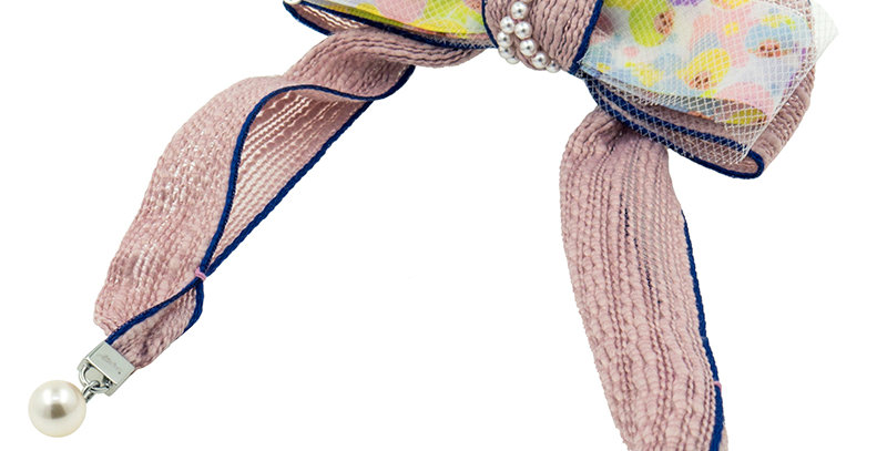 WAVY BOW STRAP CLIP(PINK)
