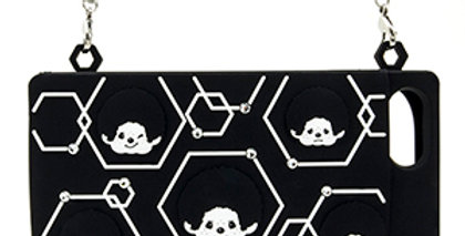IPHONE7+ RUBBER CARD CASE(BLACK)