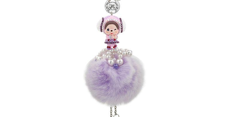 小羊毛球流蘇挂飾(紫)