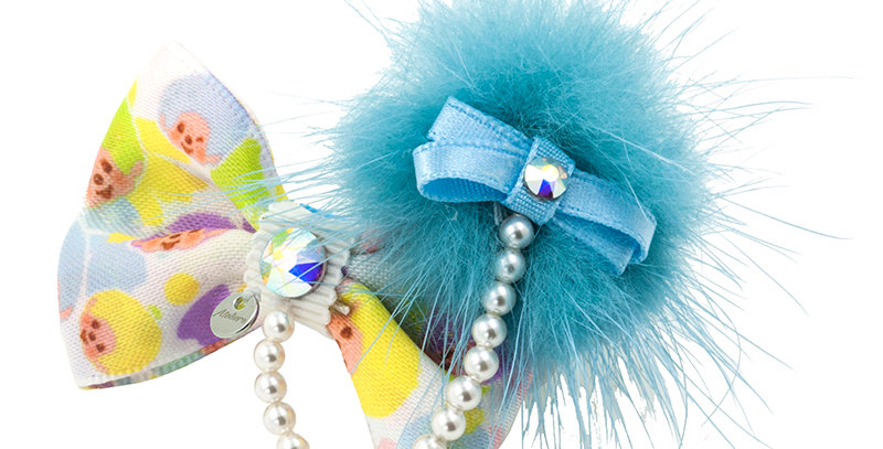 POMPOM HAIRCLIP(BLUE)