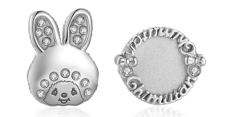CHIMUTAN字母耳環(銀色)