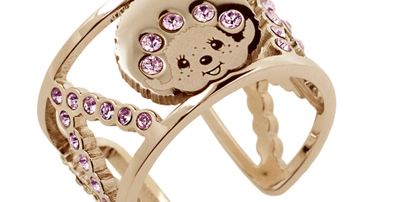 LOGOMANIA戒指(玫瑰金)