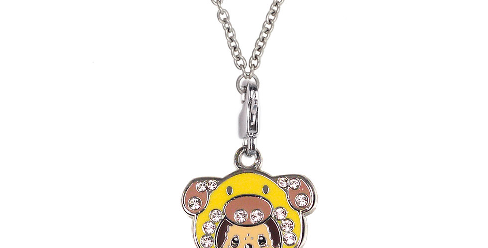 SWAROVSKI DOG CHARM NECKLACE