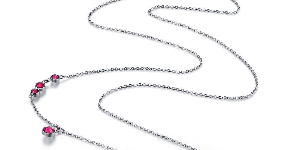 標誌項鏈(長)銀色