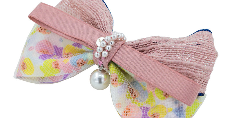 WAVY BOW CLIP(PINK)