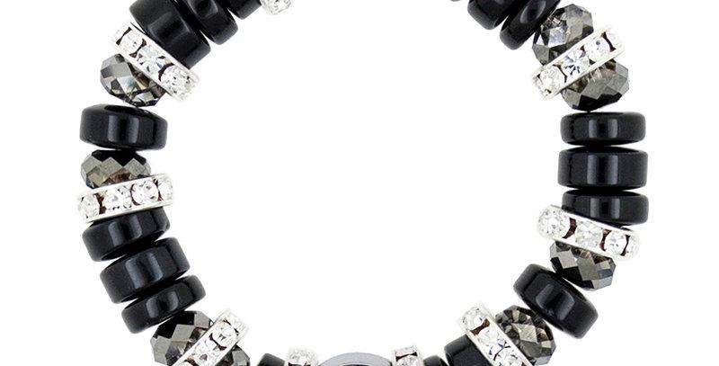 扁珠隔圈手鏈(黑天鵝)