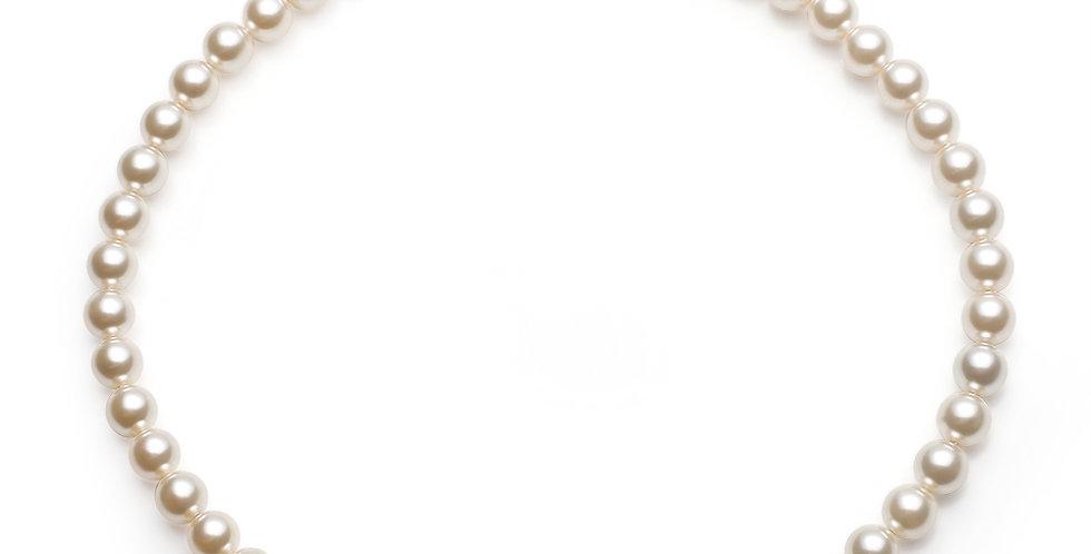 8MM珠項鏈(淺奶)