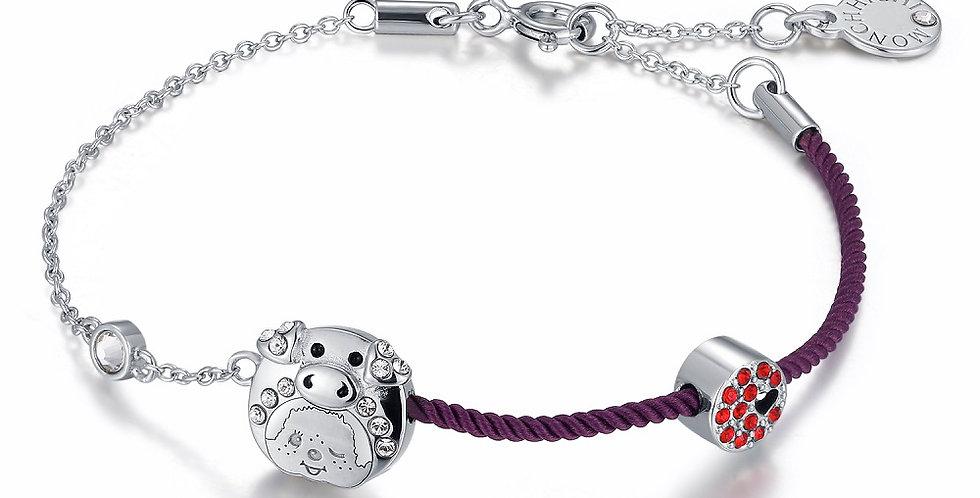 豬年生肖手繩(紫)