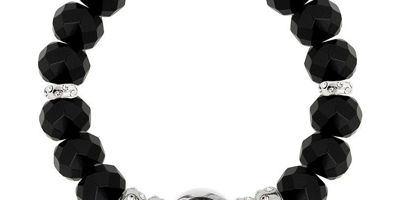 半寶石隔珠手鏈(黑天鵝)