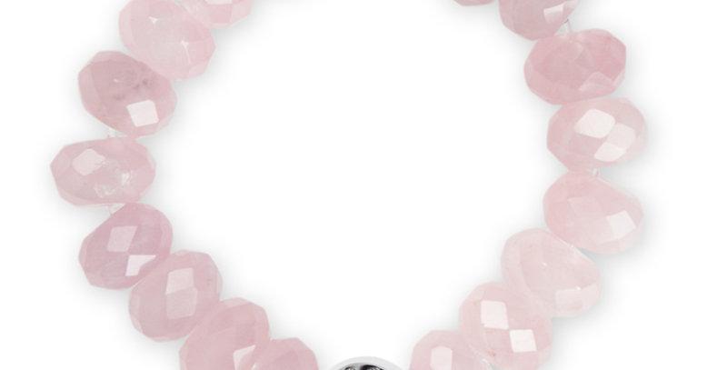 半寶石手鏈(粉紅晶)
