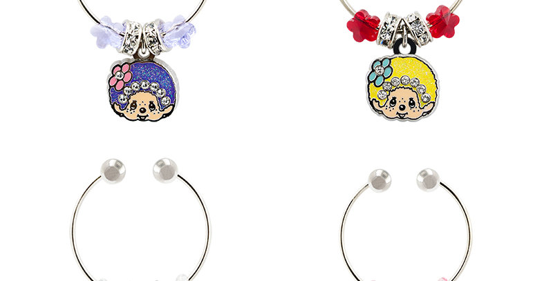 MONCHHICHI WINE CHARMS (SET OF 4)