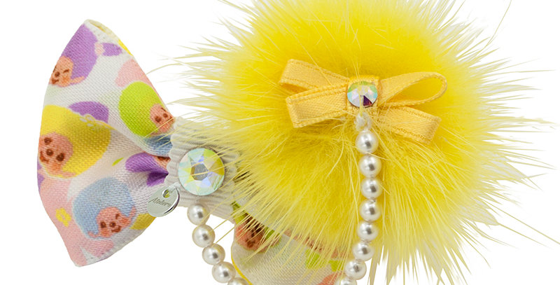 POMPOM HAIRCLIP(YELLOW)