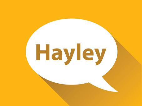 Meet Hayley!