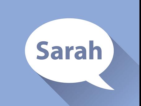 Meet Sarah!