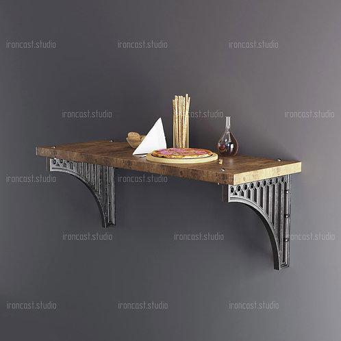 """Стол барный пристенный Лофт """"IRONBOLT"""" мебель в стиле Loft - Industrial."""