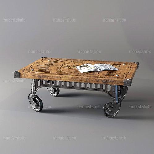 """Журнальный столик Лофт """"IRONBOLT"""" мебель в стиле Loft - Industrial"""