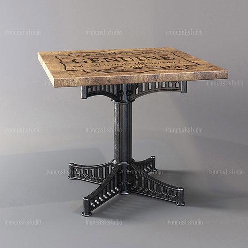 "Стол малый ""IRONBOLT"" материал: чугун марки СЧ-20, древесина. Мебель в стиле ""Industrial"" ""Loft""."