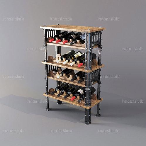 "Винный шкаф ""IRONBOLT"" материал: чугун марки СЧ-20, древесина. Мебель в стиле ""Industrial"" ""Loft""."