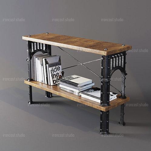 """Этажерка малая Лофт """"IRONBOLT"""" мебель в стиле Loft - Industrial."""