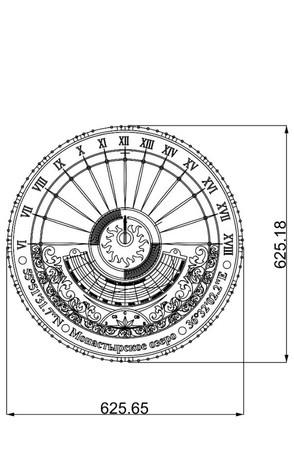 Солнечные часы размеры диаметр