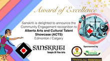 Sanskriti Award of Excellence : Community Engagement - Alberta Arts and Cultural Talent Showcase - A