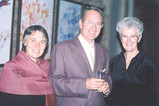 Serge and Annick Duigou (left and centre), who travelled from Brittany for the Bowman concert, with Penny Johnson (right)