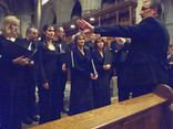 David dividing the choir into two sections
