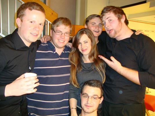 Ed Woodhouse, Charlie Hughes, Elle Williams, Tom Castle (kneeling), brother Harry Castle at back, Andy Henley