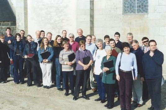 After mass at Loctudy, Brittany