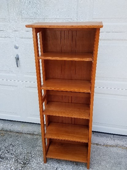 "Five_shelf_collapsible_shelving_unit_for_knick_knacks,_18""_x_48"""