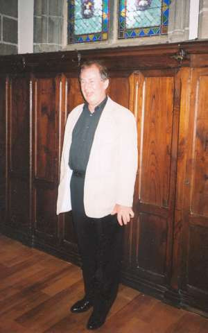 Before Quimper cathedral concert - James Bowman