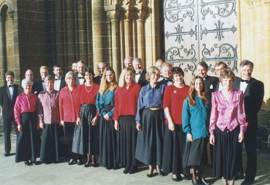 Just before a concert at Buckfast Abbey