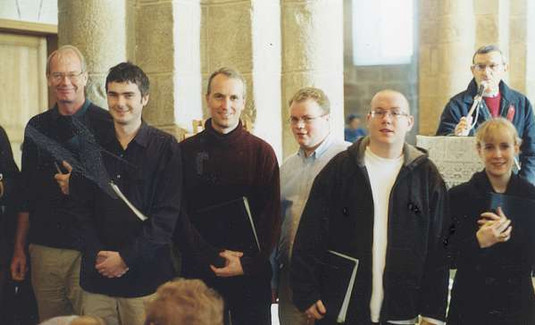 During a Mass at Loctudy, Brittany