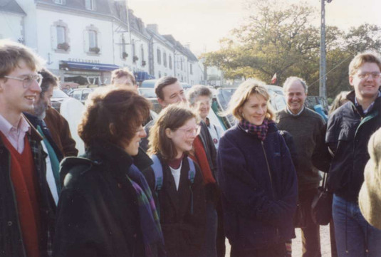 (left to right) James, Brian (bearded) Klyne, Louise, Ann, Warren with French hosts