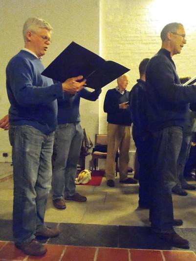 Julian Rippon, bass (left); Jonathan Harris, tenor (right)