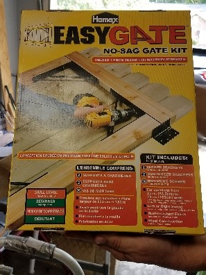 Easy Gate kit for wooden fences
