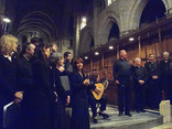 James Bowman singing with Dorothy Linell (lute) amongst the choir
