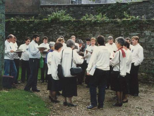 Practice just before mass at Locmaria, Quimper