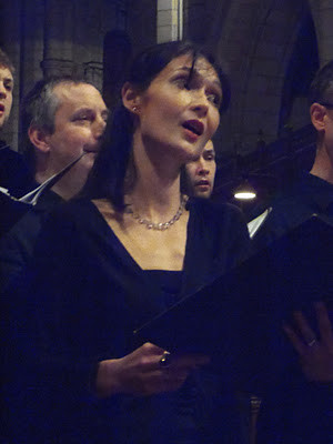Denise Kehoe (soprano and soloist in piece by Matthew Cann)