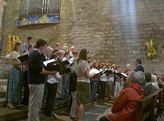 Singing at end of Mass, Pont l'Abbé