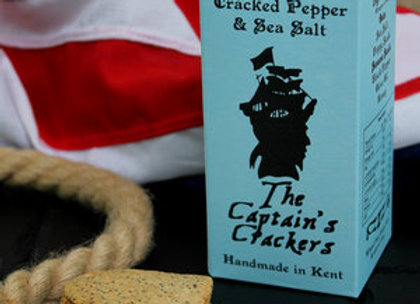 The Captains Crackers Cracked Pepper & Sea Salt