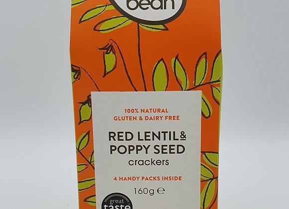 Easybean Red Lentil & Poppy Cracker