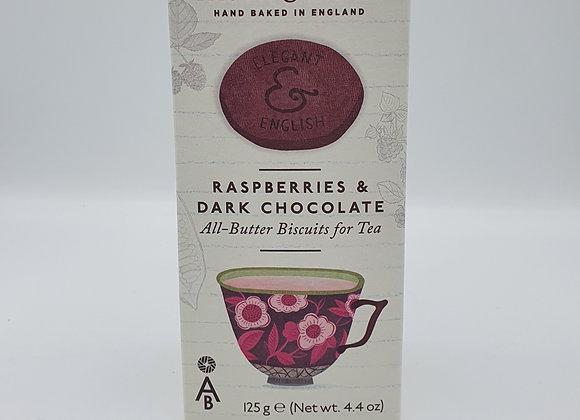 Elegant & English All-Butter Biscuits Raspberries & Dark Chocolate