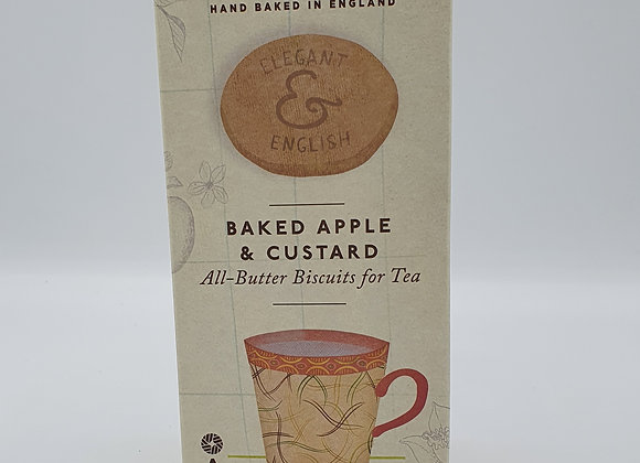 Elegant & English All-Butter Biscuits Baked Apple & Custard