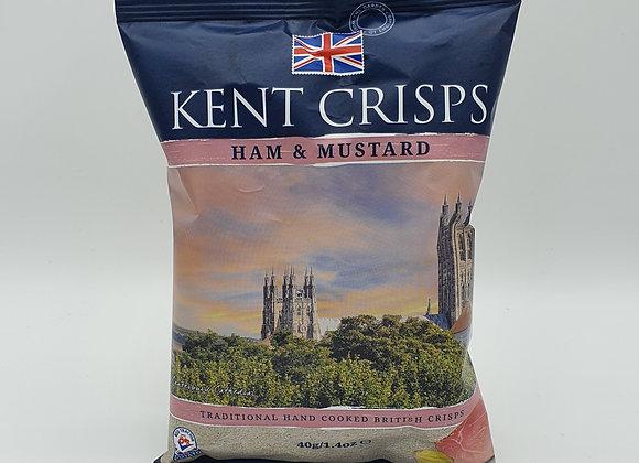 Kent Crisps Ham & Mustard 40g