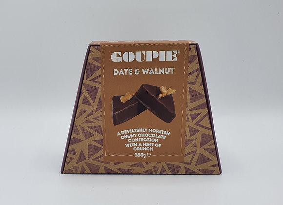 Goupie Date & Walnut Chocolate 180g