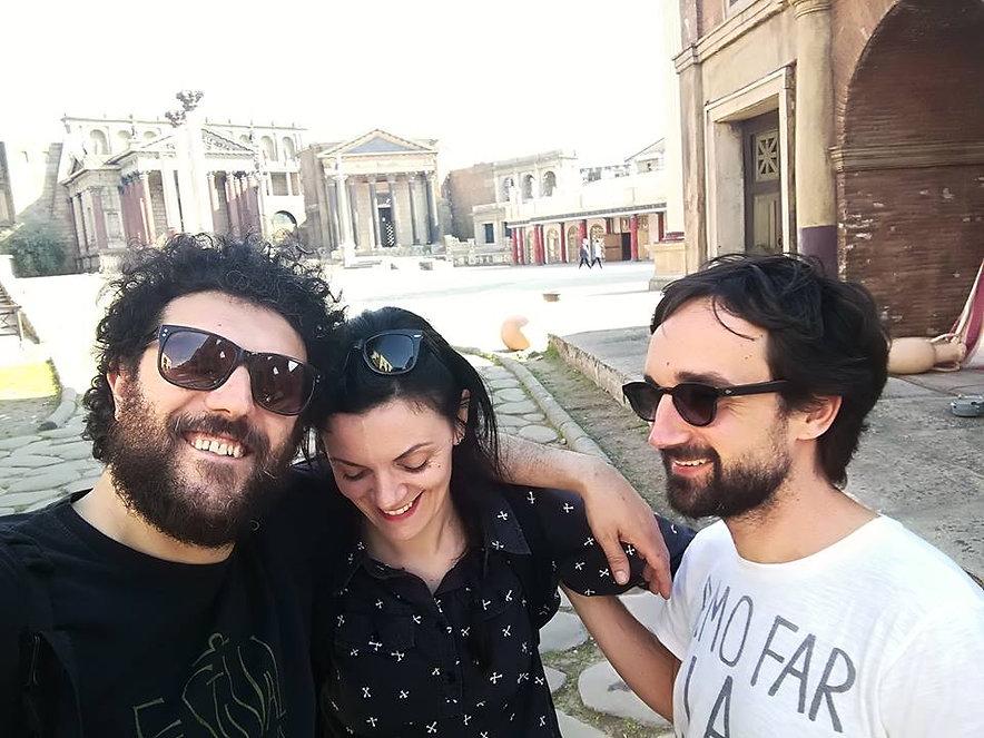 Fondatori della compagnia Teatri 35. Gaetano Coccia, Francesco De Santis e Antonella Parrella