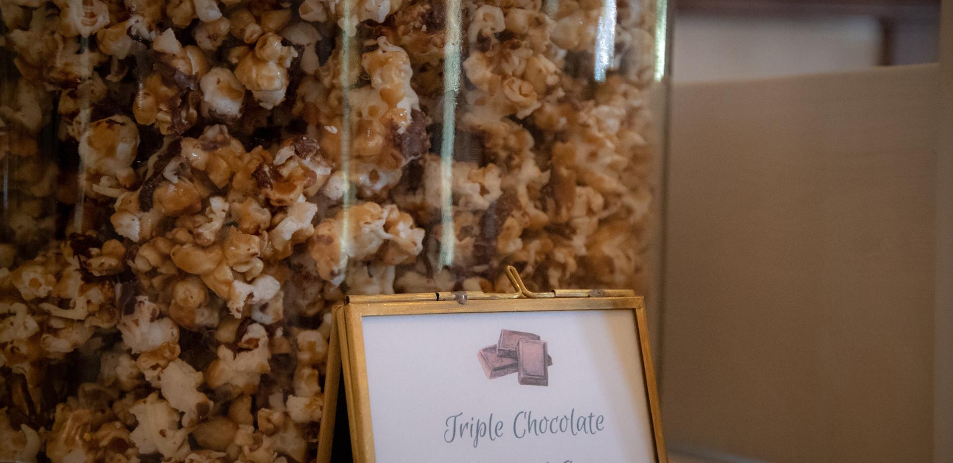 Triple Chocolate Caramel Corn