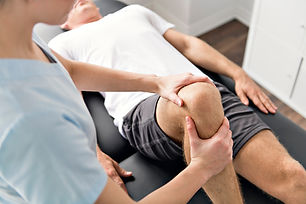 Patient at the physiotherapy doing physi
